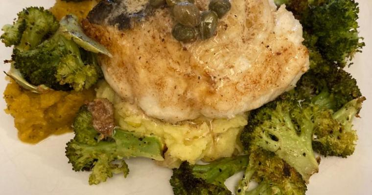 Lingcod with Lemon and Capers